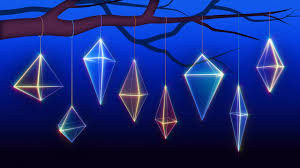 geometric christmas 5 stock video footage synthetick