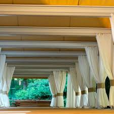 pergola curtains pergolas shadevoila com