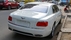 bentley flying spur white spotted bentley new flying spur v8 autodevot