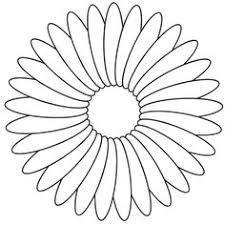 flower template cut free printable flowers leaves