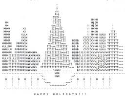 trees in ascii text holidappy