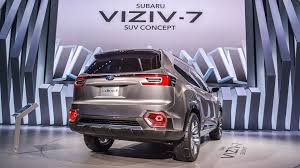subaru suv concept 205 inch long subaru viziv 7 concept is ready to shrug off vw atlas