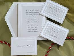 wedding invitation set pearl border birchcraft wedding invitations sets wedding