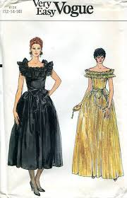 80s Prom Dress Size 12 Free Us Ship Sewing Pattern Vogue 8679 Vintage Retro 1980s 80s