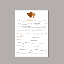 advice cards for 3 color options same mad lib wedding advice cards for