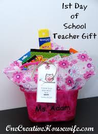 Teacher Gift Basket One Creative Housewife Back To Teacher Gift