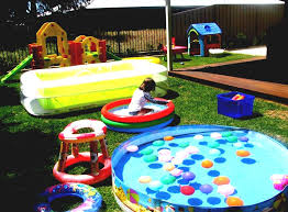 Kid Friendly Backyard Ideas On A Budget Kid Friendly Backyard Ideas With Pool And Corner Playhouse