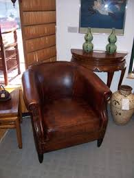 Small Leather Armchair Lovell Hall Antiques