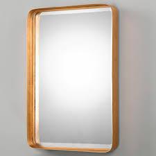 golden metal edge mirror metals bath and powder room