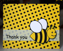 bumble bee birthday party thank you card bumble bee baby