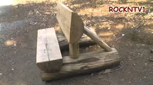 Rustic Log Benches - log bench home made a rustic split log bench project youtube