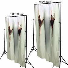 Blood Shower Curtain 150x180cm Halloween Ghost Pumpkin Polyester Shower Curtain