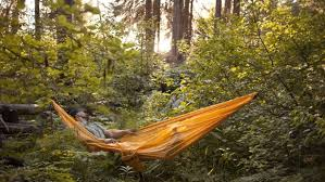 three in one hammock provides cover overhead and underfoot