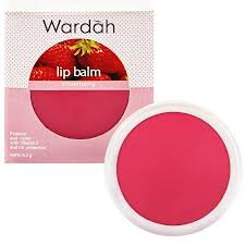 wardah lip balm strawberry padusee