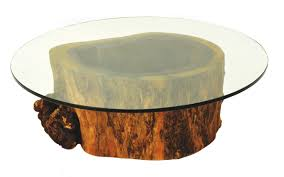 tree trunk coffee table glass top box springs office furniture