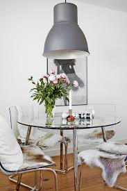 check out this clear and chic dining room space bloglovin