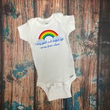 rainbow baby baby bodysuit new baby gift rainbow bodysuit