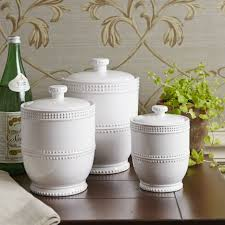 Kitchen Storage Canisters Sets Kitchen Ceramic Stoneware Canisters With Birch Lane Bantam