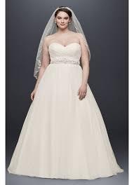 plus size strapless sweetheart tulle wedding dress david u0027s bridal