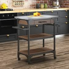 stainless steel kitchen island cart stainless steel kitchen islands carts you ll wayfair