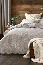 buy brushed cotton natural trees bed set from the next uk online