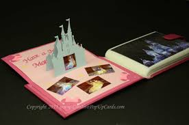 castle pop up card template creative pop up cards
