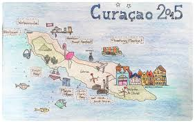 Map Curacao Curaçao Notorious Island Of Meat Niom Bag On Track