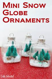 Mini Christmas Tree Crafts - snow globe mini christmas ornaments tutorial globe christmas