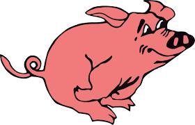 cartoon pig clipart bay