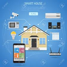smart houses smart house and internet of things concept smartphone controls