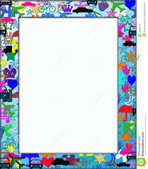 themed frames kids colorful themed frame border royalty free stock photos