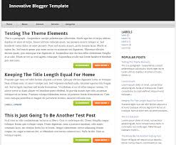 image gallery of simple blogger templates free download