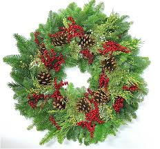 fresh wreaths fresh evergreen wreath 22 inch or 30 inch