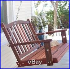 front porch swing springs hanging chains hooks 60 inch slat design