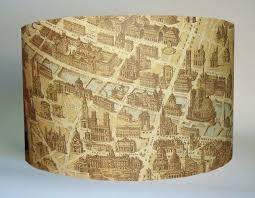 Vintage Table Lamp Shades Map Lampshade My Blog