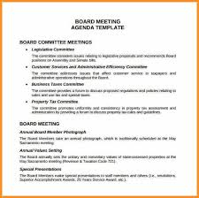 Sample Cook Resume Classic Meeting Agenda Office Templates