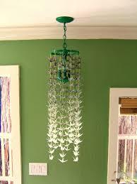 nine red how to paper crane chandelier