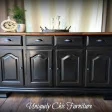 Black Buffet Server by Portfolio Uniquely Chic Furniture
