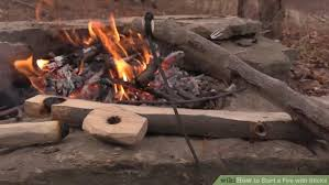 Starting A Fire Pit - how to start a fire with sticks with pictures wikihow