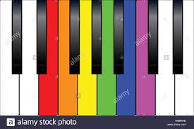 flag rainbow color piano keys for the white keys stock vector
