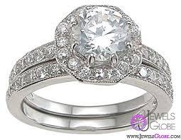 silver diamonds rings images Silver diamond wedding rings jpg