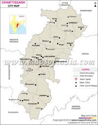 North India Map cities in chhattisgarh