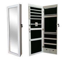 Wall Mount Jewelry Cabinet Jewelry Armoire With Mirror Ebay