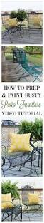 Painting Wrought Iron Patio Furniture by Best 10 Patio Furniture Redo Ideas On Pinterest Painted Patio
