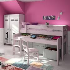 High Sleeper Bed With Desk And Sofa Mid Sleeper Bed With Drawers Rolling Desk Mathy By Bols Chil