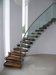 Curved Handrail Curved Marble Staircase With Metal Balustrade And Oak Handrail