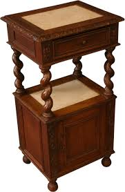 antique nightstands and bedside tables nightstand french renaissance hunting bedside table 1890 carved oak