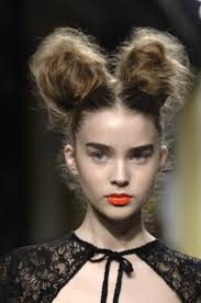 two ear hairstyle two big buns to look like ears for baloo not exactly like this best
