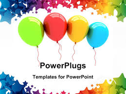 powerpoint template a number of colorful balloons with white