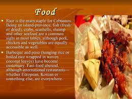 cuisine by region region vii central visayas philippines